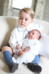 Prince Charlotte with Prince George 1